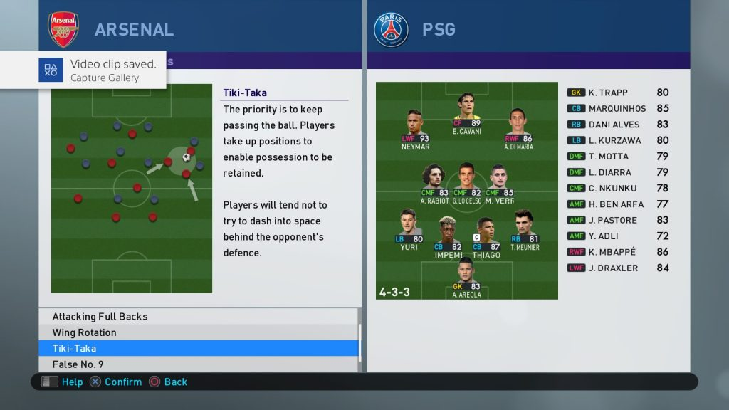 pes 2019 Advanced Instruction
