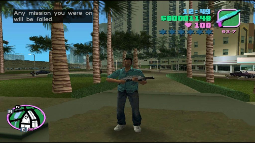 GTA Vice City Xbox cheat